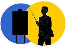 Επιχειρηματίας στη σκιαγραφία στοκ εικόνα με δικαίωμα ελεύθερης χρήσης