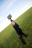 Επιχειρηματίας στις διακοπές στοκ εικόνες