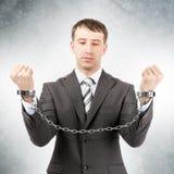 Επιχειρηματίας στις μανσέτες Στοκ φωτογραφία με δικαίωμα ελεύθερης χρήσης