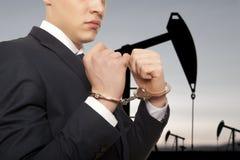 Επιχειρηματίας στις χειροπέδες Στοκ Φωτογραφίες