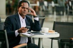 Επιχειρηματίας στον καφέ Στοκ Φωτογραφίες