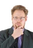 επιχειρηματίας στοχαστικός Στοκ εικόνες με δικαίωμα ελεύθερης χρήσης