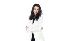 Επιχειρηματίας στο άσπρο υπόβαθρο Στοκ φωτογραφία με δικαίωμα ελεύθερης χρήσης