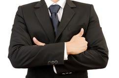 Επιχειρηματίας στο άσπρο υπόβαθρο Στοκ Εικόνα