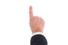 Επιχειρηματίας στο κοστούμι που δείχνει με το δάχτυλό του Στοκ εικόνα με δικαίωμα ελεύθερης χρήσης