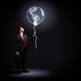 Επιχειρηματίας στο μαύρο κοστούμι Στοκ Εικόνες