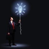Επιχειρηματίας στο μαύρο κοστούμι Στοκ Φωτογραφία