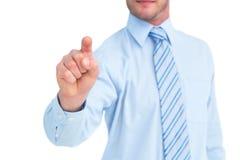 Επιχειρηματίας στο πουκάμισο που δείχνει με το δάχτυλό του Στοκ εικόνα με δικαίωμα ελεύθερης χρήσης