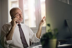 Επιχειρηματίας στο τηλέφωνο στοκ εικόνες με δικαίωμα ελεύθερης χρήσης