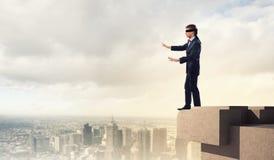 Επιχειρηματίας στο blindfold Στοκ φωτογραφίες με δικαίωμα ελεύθερης χρήσης