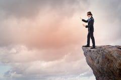 Επιχειρηματίας στο blindfold Στοκ Εικόνες