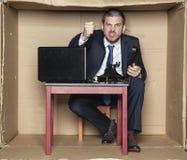 0 επιχειρηματίας στο box office που κραυγάζει στο τηλέφωνο Στοκ φωτογραφίες με δικαίωμα ελεύθερης χρήσης