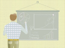 Επιχειρηματίας στρατηγικής ξεκινήματος επιχειρησιακού προγράμματος ελεύθερη απεικόνιση δικαιώματος