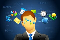 επιχειρηματίας συγκεχυμένος ελεύθερη απεικόνιση δικαιώματος