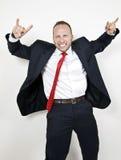 επιχειρηματίας συγκινη&mu Στοκ Εικόνες