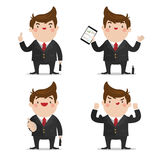 Επιχειρηματίας 4 σύνολο δράσης Στοκ Εικόνες