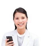 επιχειρηματίας το τηλεφ& Στοκ εικόνα με δικαίωμα ελεύθερης χρήσης