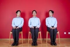 επιχειρηματίας τρία δίδυμ& Στοκ Εικόνα