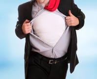 0 επιχειρηματίας λυσσασμένος το πουκάμισό του Στοκ εικόνα με δικαίωμα ελεύθερης χρήσης