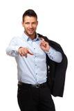 επιχειρηματίας όμορφος δείχνοντας σας Στοκ Εικόνες