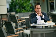 Επιχειρηματίας Contemplaiting Στοκ Εικόνα