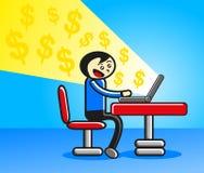 επιχειρηματίας on-line ελεύθερη απεικόνιση δικαιώματος