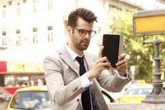 Επιχειρηματίας selfie Στοκ Φωτογραφία