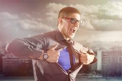 Επιχειρηματίας - Superhero Στοκ φωτογραφίες με δικαίωμα ελεύθερης χρήσης