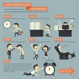 επιχειρηματίες 1 εβδομάδας απεικόνιση αποθεμάτων