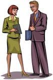 Επιχειρηματίες ζεύγους Στοκ Εικόνα