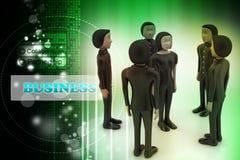 επιχειρηματίες Ηγεσία και ομάδα Στοκ εικόνα με δικαίωμα ελεύθερης χρήσης