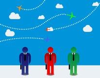 Επιχειρηματίες και αεροπλάνα Στοκ φωτογραφία με δικαίωμα ελεύθερης χρήσης