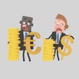 Επιχειρηματίες με τα χρήματα μετρητών Στοκ Εικόνες
