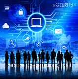 Επιχειρηματίες με την έννοια ασφαλείας πληροφοριών Στοκ φωτογραφία με δικαίωμα ελεύθερης χρήσης