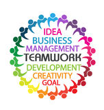 Επιχειρηματίες ομαδικής εργασίας λογότυπων Στοκ Εικόνες