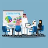 Επιχειρηματίες που έχουν τη συνεδρίαση Συμβουλίου, διανυσματικά κινούμενα σχέδια απεικόνισης στοκ φωτογραφίες με δικαίωμα ελεύθερης χρήσης