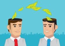 Επιχειρηματίες που ανταλλάσσουν τις ιδέες χρημάτων διανυσματική απεικόνιση