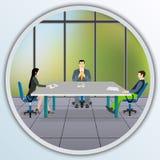 Επιχειρηματίες που κάθονται στο τραπέζι των διαπραγματεύσεων ελεύθερη απεικόνιση δικαιώματος