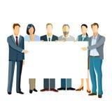Επιχειρηματίες που παρουσιάζουν το πρότυπο στοκ εικόνα