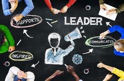 Επιχειρηματίες που προγραμματίζουν την ηγεσία με τις εικόνες Στοκ Φωτογραφία