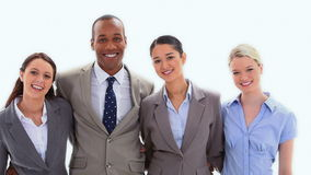 Επιχειρηματίες που στέκονται δίπλα-δίπλα φιλμ μικρού μήκους