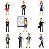Επιχειρηματίες στα κοστούμια καθορισμένα, διανυσματικές απεικονίσεις χαρακτήρων υπαλλήλων γραφείων Στοκ φωτογραφία με δικαίωμα ελεύθερης χρήσης