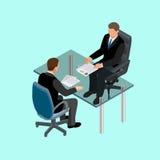 Επιχειρηματίες στη συνεδρίαση κοστουμιών στον πίνακα συνεδρίαση became hysterical interview job one them Υποψήφιοι εργασίας Έννοι ελεύθερη απεικόνιση δικαιώματος