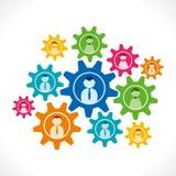 Επιχειρηματίες στο υπόβαθρο εργαλείων διανυσματική απεικόνιση