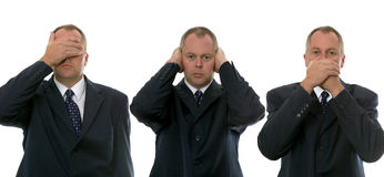 επιχειρηματίες τρία σοφ&omicr Στοκ εικόνα με δικαίωμα ελεύθερης χρήσης
