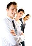 επιχειρηματίες τρία στοκ εικόνα