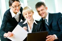 επιχειρηματίες τρία Στοκ εικόνα με δικαίωμα ελεύθερης χρήσης