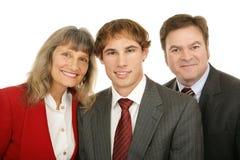 επιχειρηματίες τρία Στοκ Εικόνες
