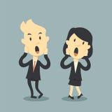 Επιχειρηματίες τρομακτικοί ελεύθερη απεικόνιση δικαιώματος
