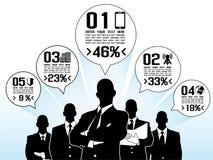 Επιχειρηματίες Infographic με πέντε επιλογές Στοκ Εικόνα